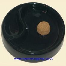 Ceramic Black 1 Pipe Rest Knocker Ashtray 520705