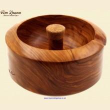 Tom Spanu Artisan Italian Handcrafted Olivewood Cork Knocker Pipe Ashtray a