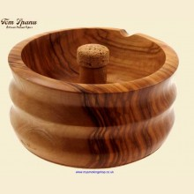Tom Spanu Artisan Italian Handcrafted Olivewood Cork Knocker Pipe Ashtray d