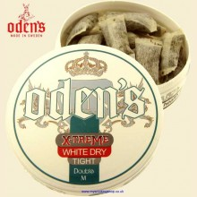 Odens Extreme White DRY TIGHT DOUBLE M Smokeless Chew Tobacco Bags Single 10g Pack