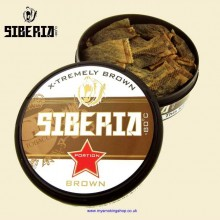 Siberia Extremely Brown Smokeless Chew Tobacco Bags Single 20g Pack
