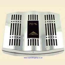 Credo Epsilon 80 Chrome Cigar Humidor Humidifier Hydrator