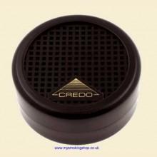 Credo Rondo 40 Round Black Cigar Humidor Humidifier Hydrator