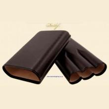 Davidoff Classic Essentials Enjoyment Brown Leather Telescopic 3-finger Gordo Cigar Case 106759