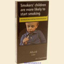 Alluve Superslims LILAC 1 Pack of 20 Cigarettes