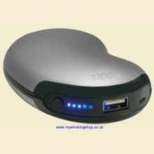 Zippo Heatbank 6 USB Rechargeable Silver Hand Warmer and Power Bank