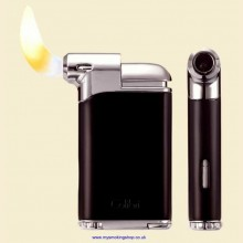 Colibri Pacific Air Black Chrome Pipe Lighter and Tamper