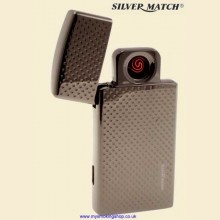 Silver Match Edgware Gunmetal USB Cigarette Lighter