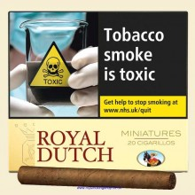 Ritmeester Royal Dutch Miniatures Yellow Pack of 20 Cigars
