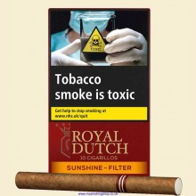 Ritmeester Royal Dutch Sunshine Filter Pack of 10 Cigarillos