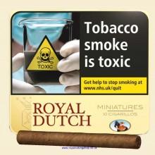 Ritmeester Royal Dutch Miniatures Yellow Tin of 10 Cigars