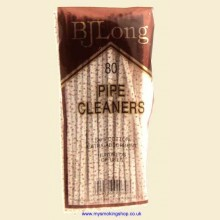 BJ Long 80 Bristle Straight Cotton Pipe Cleaners