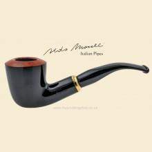 Aldo Morelli Fiorita Black 9mm Filter Smooth Bent Pipe 514