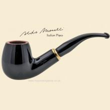 Aldo Morelli Fiorita Black 9mm Filter Smooth Bent Pipe 515