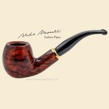 Aldo Morelli Fiorita Cherry 9mm Filter Smooth Bent Pipe 491