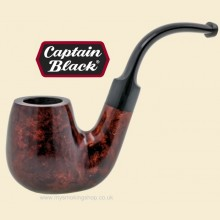 Captain Black Gold Spot Smooth Bent Oom Paul Pipe 21478