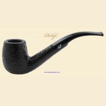 Davidoff Prestige Sandblasted Black Bent Pot Pipe 101