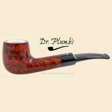 Dr Plumb Meerschaum Lined 9mm Filter Smooth Curved Pipe drpm06