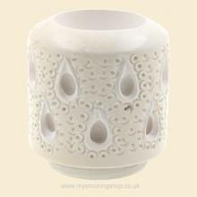 Hand Carved Turkish Block Meerschaum Teardrop Lattice Dublin Bowl for Falcon fmb149