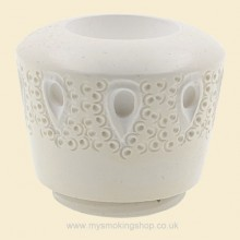 Hand Carved Turkish Block Meerschaum Teardrop Lattice Algiers Bowl for Falcon fmb160