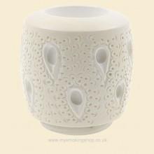 Hand Carved Turkish Block Meerschaum Teardrop Lattice Large Billiard Bowl for Falcon fmb164