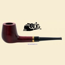 Mr Brog No.30 Dublin Straight Smooth Red Pear Wood Pipe
