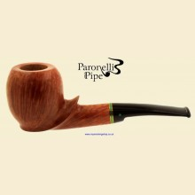Paronelli Clairmont Smooth Real Briar Curved Apple Pipe b