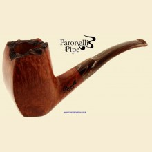 Paronelli Style Smooth Real Briar Bent Flat Front Billiard Plateaux Table Pipe b