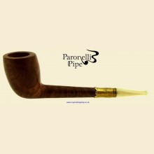 Paronelli Vintage Ivory Smooth Real Briar Straight Cutty Pipe d