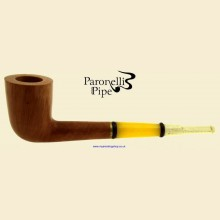 Paronelli Vintage Ivory Smooth Real Briar Straight Dublin Pipe f