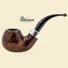 Peterson Silver Mounted Army Smooth Large Bent Apple Pipe xl02
