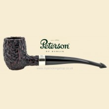 Peterson Barrel Nickel Mounted Rustic Curved Pipe