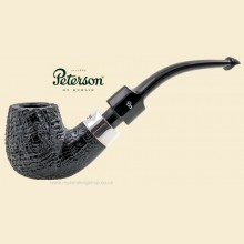 Peterson Deluxe Silver Mounted System Sandblast PSB Bent Pipe 9s
