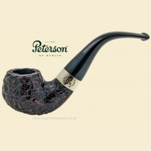 Peterson Donegal Rocky Rustic Bent Apple Pipe 03