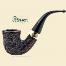 Peterson Donegal Rocky Rustic Bent Calabash Pipe 05