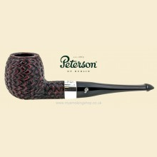 Peterson Donegal Rocky Silver Mounted Rustic Straight Apple Pipe 87 P'lip