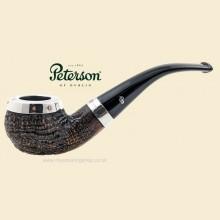 Peterson Silver Cap Sandblast Bent Apple Pipe 03