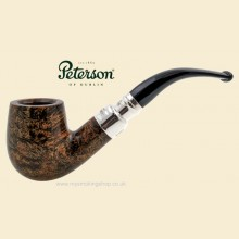 Peterson Black and White Silver Spigot Smooth Bent Billiard Pipe 69