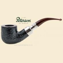 Peterson Newgrange Silver Spigot Sandblast Bent Pot Pipe 01
