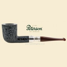 Peterson Newgrange Silver Spigot Sandblast Straight Dublin Pipe 120