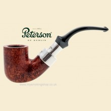 Peterson Walnut Silver Spigot Smooth Bent Billiard Pipe 338