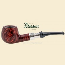 Peterson Walnut Silver Spigot Smooth Curved Apple Pipe 408