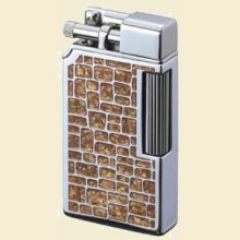 Sarome SD32-22 Dia-Silver Brown Stained Glass Lighter
