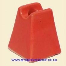 Ashtray Pyramid Cigarette Snuffer Salmon Pink Ceramic