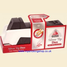 Gizeh Silver Tip Duo Regular and Extra Cigarette Tubing Machine