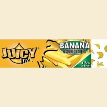 Juicy Jay's Banana Flavour 79mm Rolling Papers 1 Pack