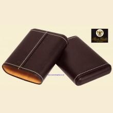 Ben Wade High Quality Spanish Cedar Lined Black Leather Telescopic Toro 4-finger Cigar Case s201