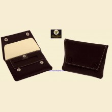 Ben Wade High Quality Small Black Leather Button Rolling Tobacco Pouch p309
