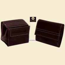 Ben Wade High Quality Small Black Leather Button Box Style Rolling Tobacco Pouch p305
