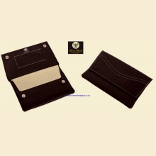Ben Wade High Quality Black Leather Button Rolling Tobacco Pouch p304